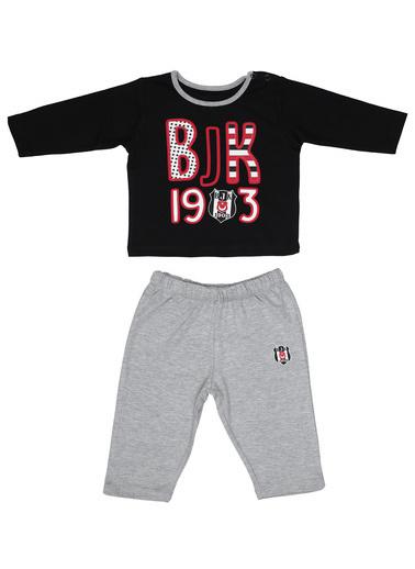 Beşiktaş Beşiktaş Lisanslı Siyah Bebek Bebek Takımları Siyah